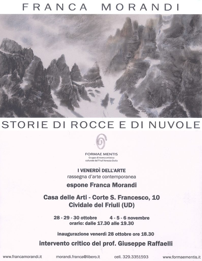 Franca Morandi - Storie di rocce e nuvole - Invito